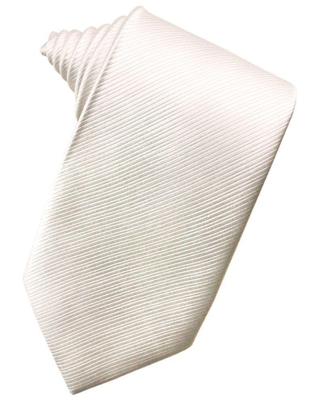 Ivory Faille Silk Necktie - Miguel's Men's Wear