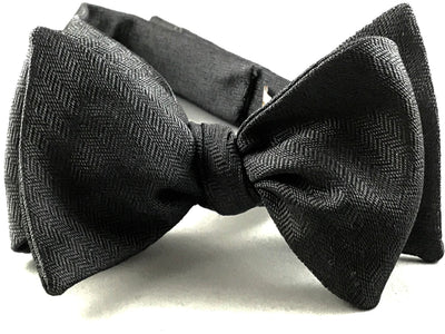Charcoal Textured Solid Bow Tie - Miguel's Men's Wear