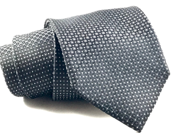 Black Spec Silk Tie - Miguel's Men's Wear