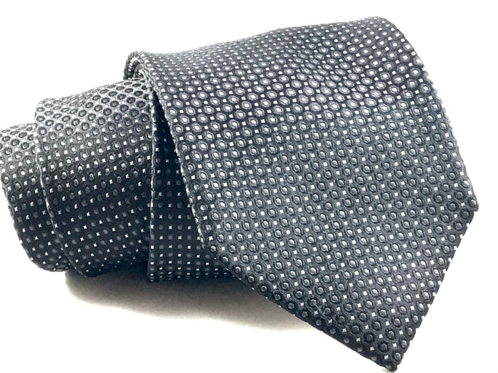 Black Spec Silk Tie
