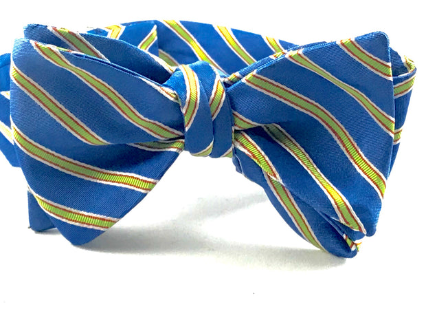 Blue Florescent Stripe Bowtie - Miguel's Men's Wear