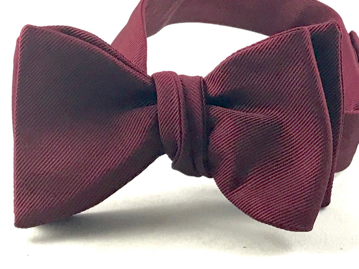 Burgundy Gross Grain Bowtie - Miguel's Men's Wear