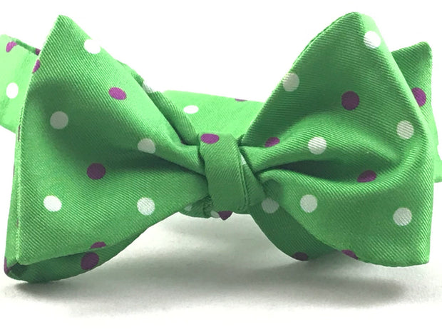 Green White and Purple Polkadot - Miguel's Men's Wear