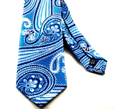 Paisley Blue Tie - Miguel's Men's Wear