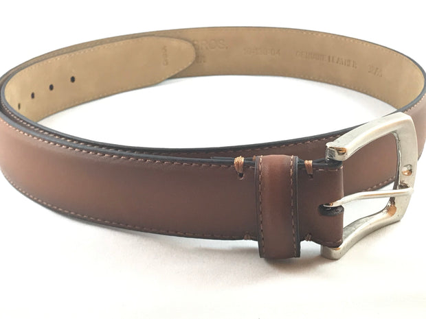 Cognac Leather Belt - Miguel's Men's Wear
