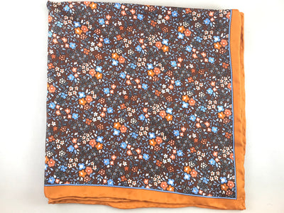 Brown Flour Pocket Square - Miguel's Men's Wear