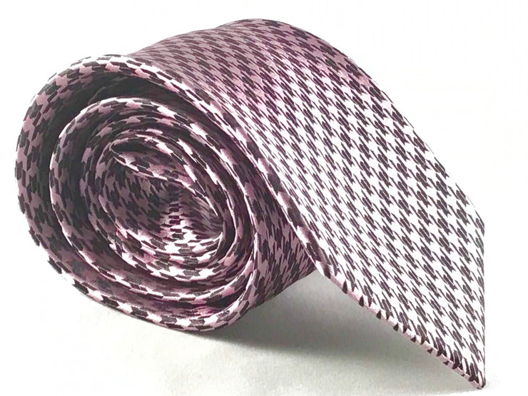 Pink & Black Houndstooth - Miguel's Men's Wear