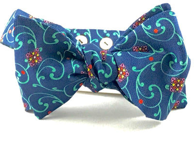 Blue Floral Bowtie - Miguel's Men's Wear
