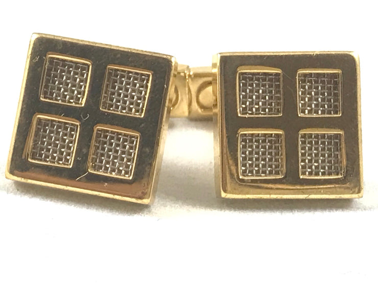 Gold Four Square Cufflinks - Miguel's Men's Wear