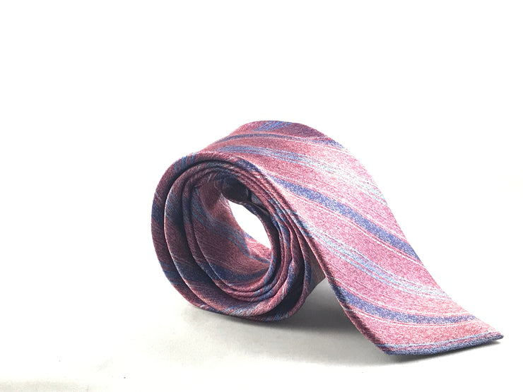 Pink Stripe Silk Tie - Miguel's Men's Wear