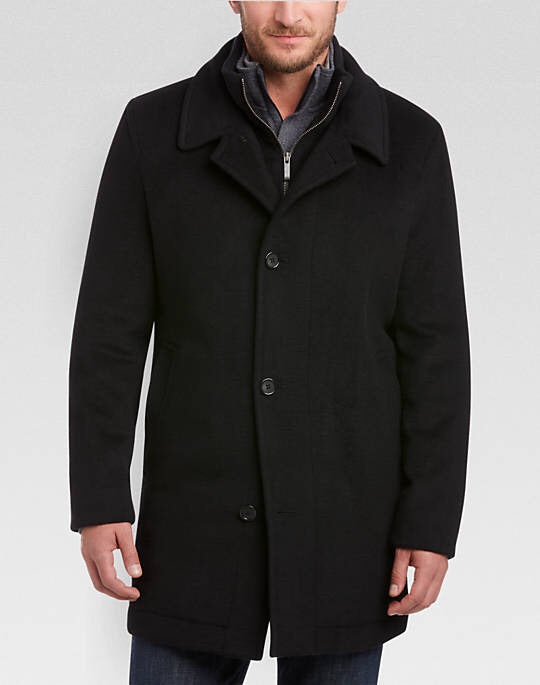 Black Classic Fit Car Coat - Miguel's Men's Wear