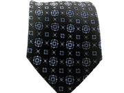 Black and Blue Silk Tie - Miguel's Men's Wear