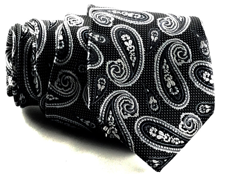 Grey Paisley Silk Tie - Miguel's Men's Wear