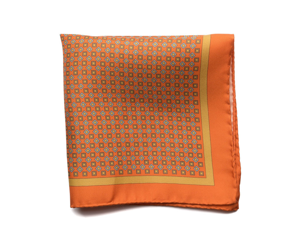 Pocket Square Orange - Neat - Miguel's Men's Wear