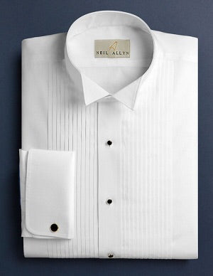Tab Collar 1/4 Pleat Formal Shirt - Miguel's Men's Wear