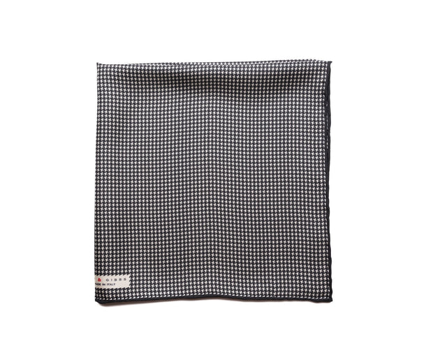 Pocket Square Black/White Micro Houndstooth - Miguel's Men's Wear
