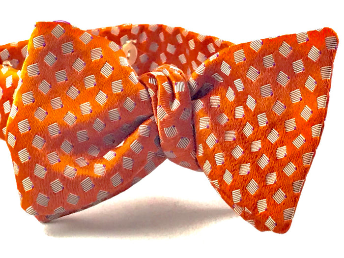 Orange Medallion Bowtie - Miguel's Men's Wear