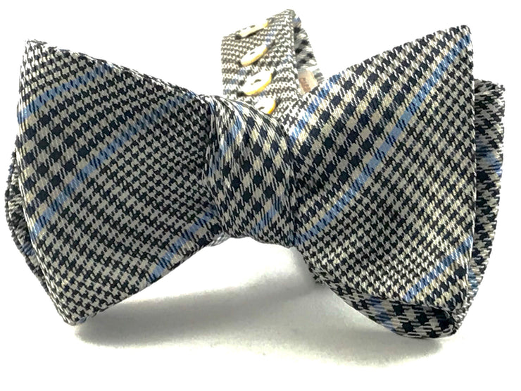 Grey Black Glen Plaid Bowtie - Miguel's Men's Wear