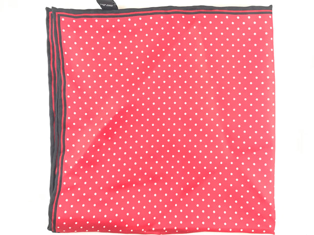 Red Polka Dot S square - Miguel's Men's Wear