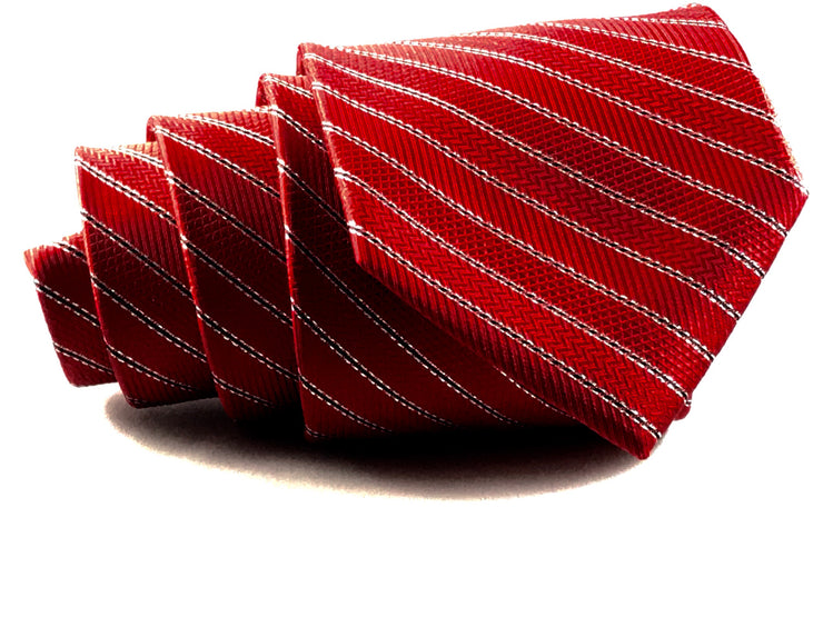 Red Striped Tie - Miguel's Men's Wear