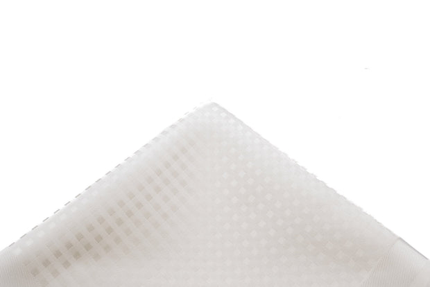 Pocket Square White Tonal Woven - Miguel's Men's Wear