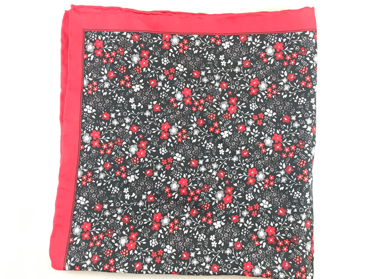 Red Floral Pocket Square - Miguel's Men's Wear