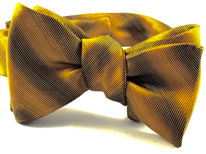 Gold Black Stripe Bowtie - Miguel's Men's Wear