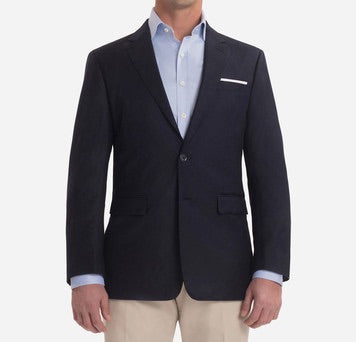 SUPER 130S NAVY SOLID BLAZER - Miguel's Men's Wear