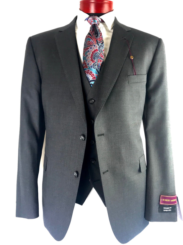 Grey Three Piece Suit - Miguel's Men's Wear