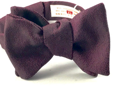 Burgundy Solid Bowtie - Miguel's Men's Wear