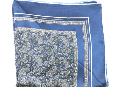 Lue Paisley Pocket Square - Miguel's Men's Wear