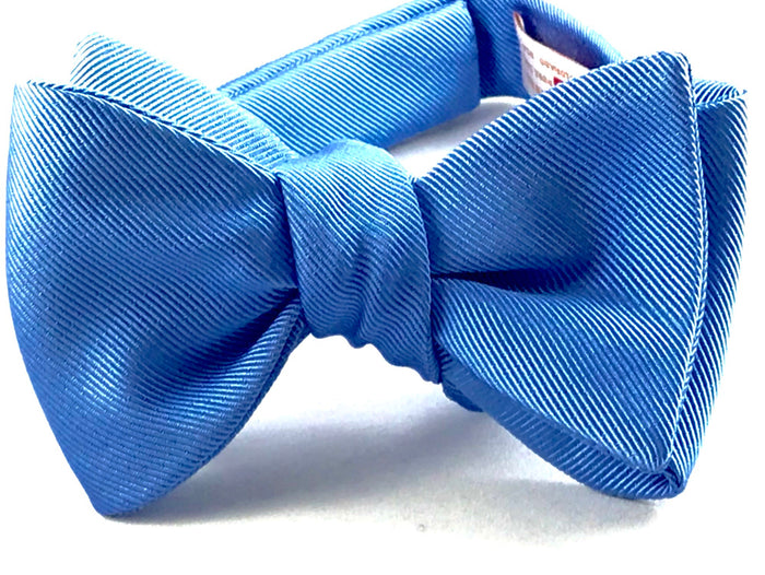Powder Blue Gross Grain Bowtie - Miguel's Men's Wear