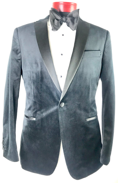 Black Velvet Jacket - Miguel's Men's Wear