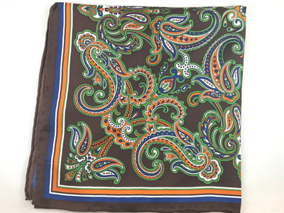 Brown Paisley Pocket Square - Miguel's Men's Wear