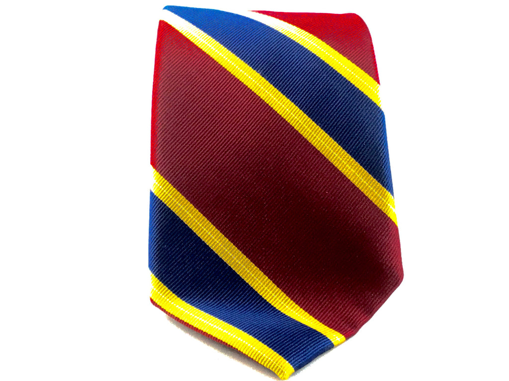 Red College Stripe Silk Tie - Miguel's Men's Wear
