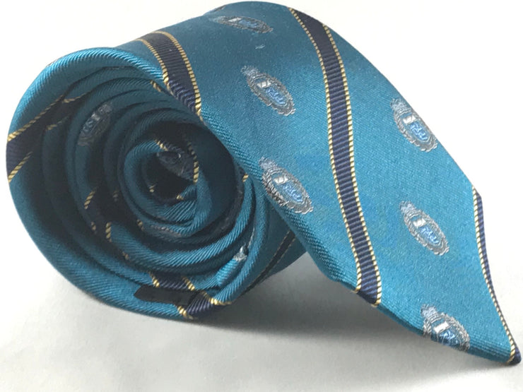 Dark Teal Club Tie - Miguel's Men's Wear