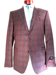 DAB119825 Burgundy Plaid
