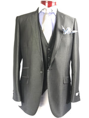TZ 166/2 Charcoal - Miguel's Men's Wear