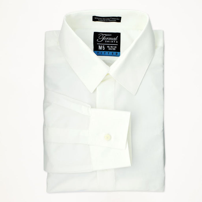 Ivory Laydown Collar Shirt - Miguel's Men's Wear