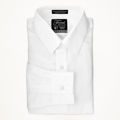 White Laydown Collar Shirt - Miguel's Men's Wear