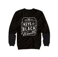 Black - Keys to Black Wealth Crewneck
