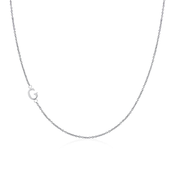 Moody Mood-Accessories-.925 Sterling Silver Sideway Letter G Necklace (18k white gold plating)