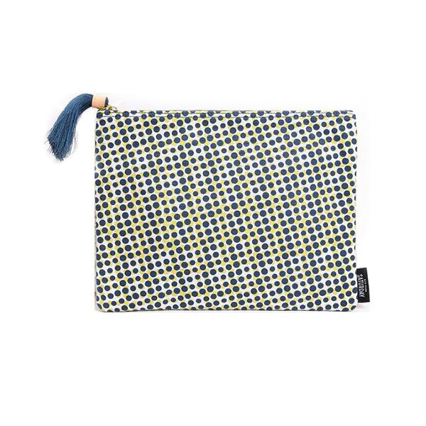 Kate Spade Saturday-Handbags-Saturday Zipper Pouch With Tassel In Spotted Dots