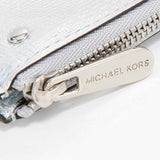 Michael Kors-Wallets-Michael Kors Jet Set Metallic Travel Key Pouch, Silver Metallic Leather