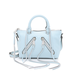 Rebecca Minkoff-Handbags-Micro Moto Satchel, Crossbody Bleached Blue