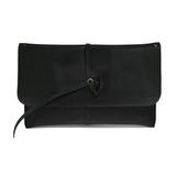 Made in Korea-Clutches-Korea Two Way Leather Envelope Bag, Black