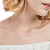 Moody Mood-Accessories-.925 Sterling Silver Sideway Letter N Necklace (18k white gold plating)