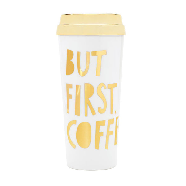 Ban.do-Drinkware-Hot Stuff Thermal Travel Mug - But First Coffee