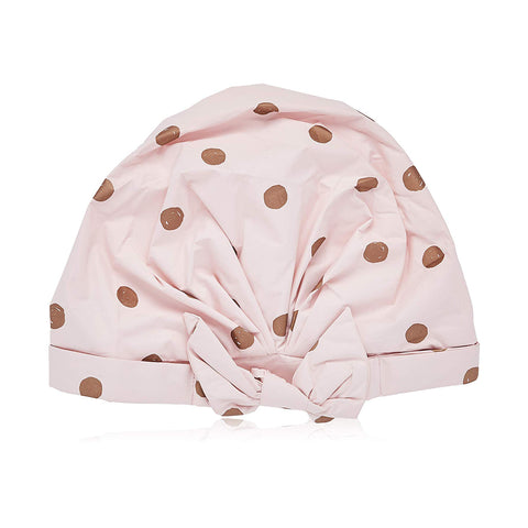 SoldSimple-US-Beauty-Luxe Shower Cap (Blush Dot)