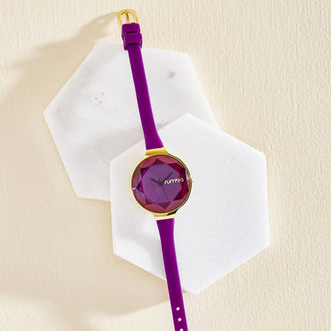 RumbaTime-Watches-Orchard Gem Watch - Amethyst